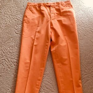 Hickey Freeman Flat Front Tapered Leg Chinos 36w